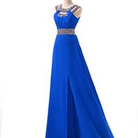 Beaded Prom Bridesmaid Dresses for Women Wedding Evening Gowns Party Homecoming