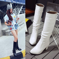On Sale Hot Deal Winter Plus Size Knee-length With Heel Boots [6366197636]