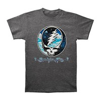 Grateful Dead Men's  Steal Your Sky And Space T-shirt Grey