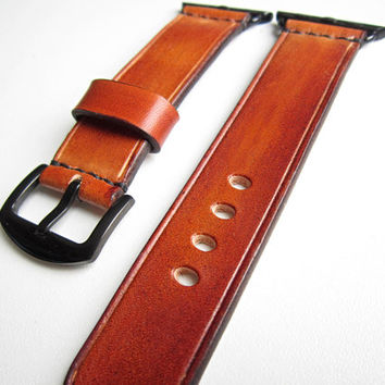 Brown Apple watch strap, watch strap, leather watch strap, apple watch band 38mm