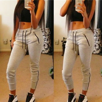 Casual Zip Strappy Pants Trousers