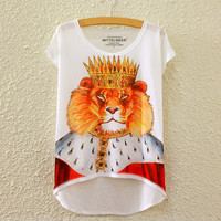Summer Print Short Sleeve T-shirts [4919379268]