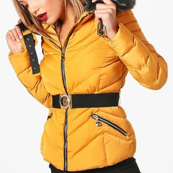 Stephanie Padded Premium Coat | Boohoo