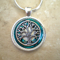 Tree of Life Keychain: Blue - Men's Keychain - Mens Keyring - Tree Keychain - Celtic Keychain - Unique Keychain - Mens Gift - Boyfriend Gift