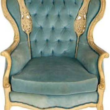 One Kings Lane - Architectural Anarchy - Oversized Chair w/ Velvet Upholstery