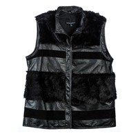 Cynthia Rowley - Leather and Fur Vest