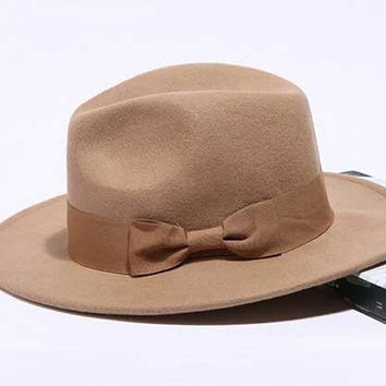 Mens Wool Fedora Winter Hat