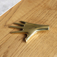 Paperweight Hand in Polished Brass by Carl Aubock - OEN Shop