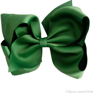 Grosgrain Boutique Hairbow, Green