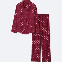 WOMEN RAYON PRINTED PYJAMAS | UNIQLO