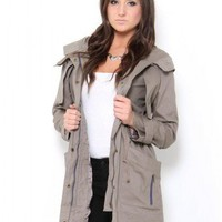 Military Style Trench Coat - Outerwear - Tops