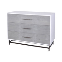 Dovetail 3 Drawer Chest Weathered Mahogany,Cappuccino Foam
