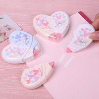 2 Pcs Pair Love Heart Correction Tape Material Escolar Kawaii Stationery Office School Supplies Papelaria 10M