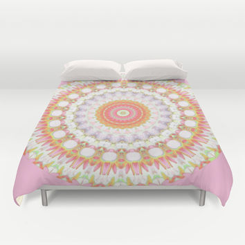 Magical Medallion Mecca in Pink Duvet Cover by RokinRonda