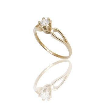 Classic 14K Gold Solitaire Ring