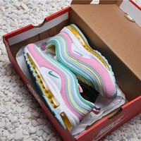 Theshoegame X Nike Air Max 97 Corduroy Pink Women's Sport Running Shoes - Best Online Sale