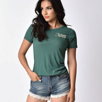 Deep Green Hakuna Matata Short Sleeve Ribbed Disney Tee