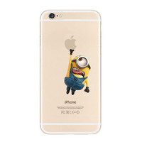 Minions Touch Apple iPhone 6s 6 Transparent Clear Soft Case