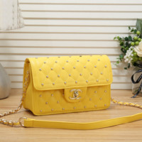 Women Fashion Leather Chain Satchel Crossbody Shoulder Bag