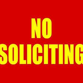 No Soliciting Business Informational Policy Sign