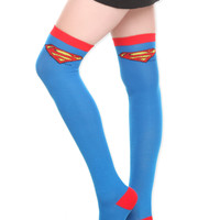 DC Comics Superman Over-The-Knee Socks | Hot Topic
