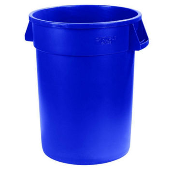 20 Gallon Blue Bronco Round Trash Can (6-Pack) Heavy-Duty Waste Container