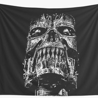 'Skull BLACK art #skull #skulls' Wall Tapestry by JBJart