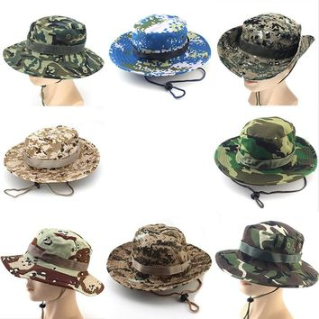 Military Camouflage Bucket Hats Fishing Fisherman Hunting Men Adult Sun Protection Hunter Mountain Cap Male Climbing Accessories