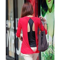 Autumn/Fall New Stylish One Size Cotton Women Red Outerwear@T204r