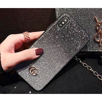 GUCCI Tide brand gradient glitter iPhoneXS max mobile phone case cover #4