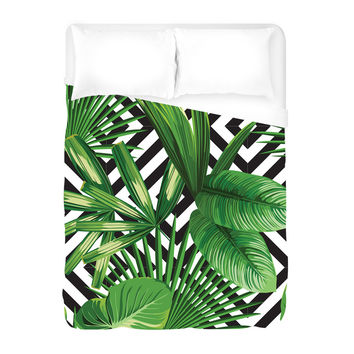 Palms Over Diamonds Duvet Cover