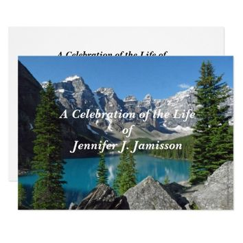 Celebration of Life Announcement Mountains Lake