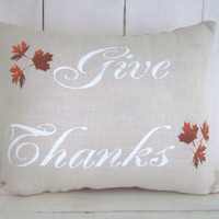 Thanksgiving pillow, autumn pillows, gratitude fall pillow, decorative pillows,  throw pillows, orange decor, holiday decor