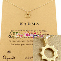 Dogeared karma sun pendant clavicle chain free shipping (Necklace  no card)