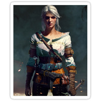 'The Witcher 3 WILD HUNT - Ciri' Sticker by ItsNapkin