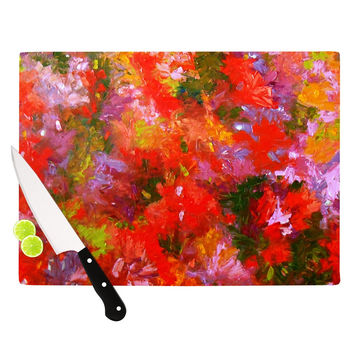 "Jeff Ferst ""Summer Garden"" Floral Painting Cutting Board"