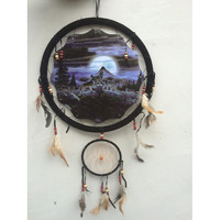 "13"" Wolf Dream Catcher 3"