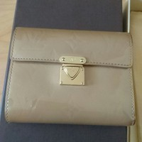Authentic Louis Vuitton vernis koala trifold beige wallet (with receipt)