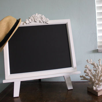 Large Chalkboard Magnet Board Easel - Wedding - Boutique - Shabby Chic Chalkboards - Tabletop Magnetic Chalkboard 18 x 19