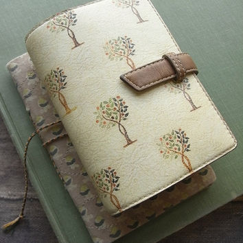 handstitched leather binder - vegetable from kikosattic