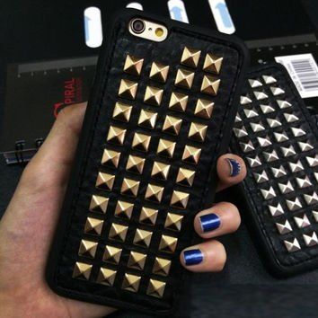 3D Soft TPU Cool Rock Punk Spikes Stud Rivet Phone Case Cover For Iphone 7 6 6S Plus 5 5S SE 4 4S
