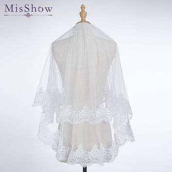 Big Sale Simple Short Tulle Wedding Veils Cheap 2018 White Ivory 1.2 M Bridal Veil for Bride for Mariage Wedding Accessories