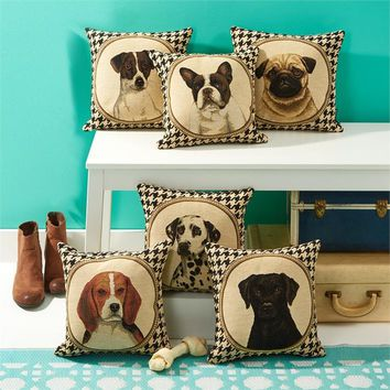 Double Sided Houndstooth Dog Pillow 6 Styles