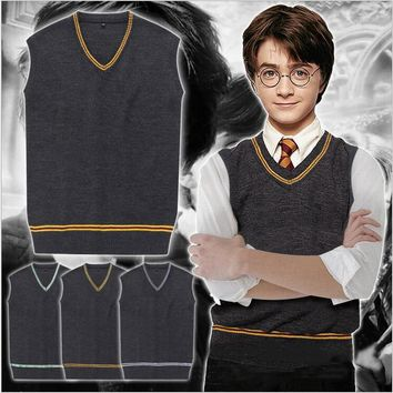 Hufflepuff/Ravenclaw/Slytherin/Gryffindor Sweater Vest  Potter Cosplay Costume Halloween Costumes Disfrace Carnaval
