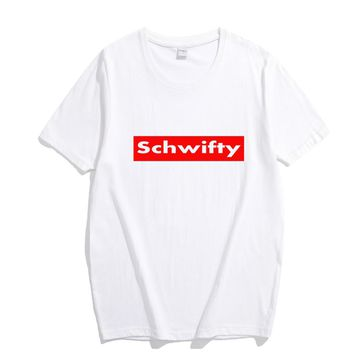 Schwifty UNISEX Funny Tee Rick And Morty Pure Cotton Short Sleeve Black or White T-shirt