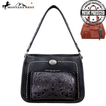 Montana West MW169G-116 Concealed Carry Handbag With Built-In Wallet