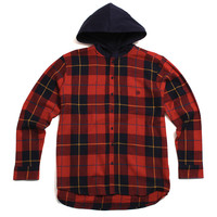 CB's Hooded Flannel Red