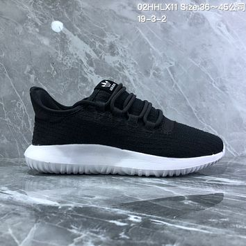 HCXX A740 Adidas Tubular Shadow PK Simmplified edition Yeezy Running Shoes Black White 1