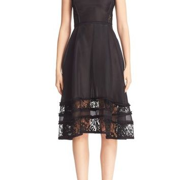 Jason Wu Lace Inset Silk Cocktail Dress | Nordstrom