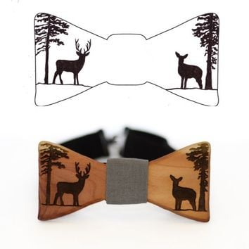 Customize The Slimline Wooden Bow Tie